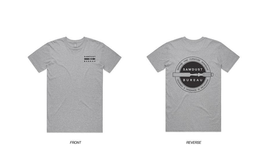 Sawdust Bureau Tee Shirt - Grey
