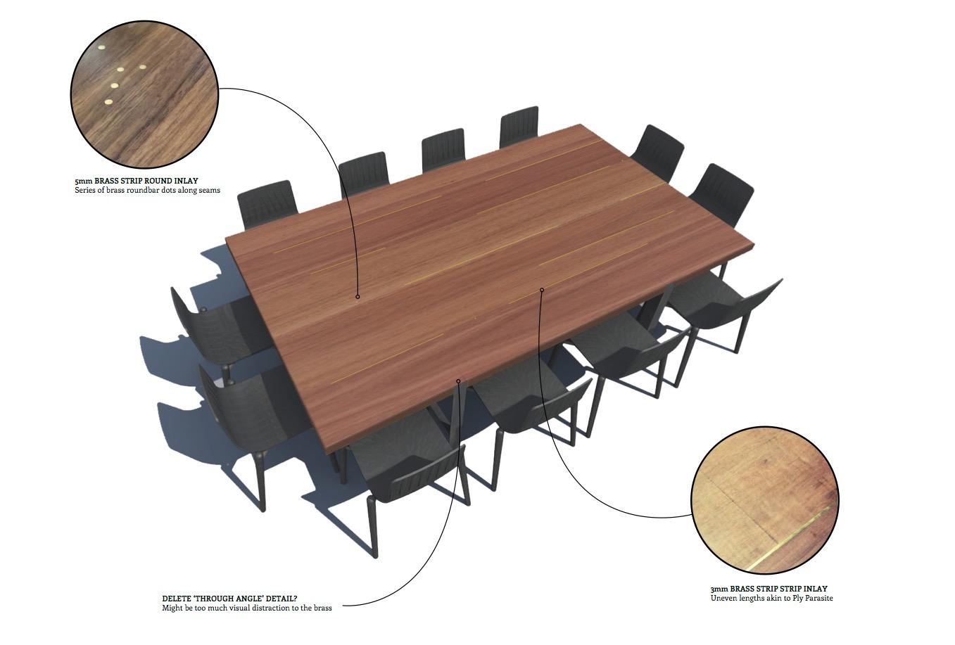 Dot-Dot-Dash Table Sawdust Bureau 01