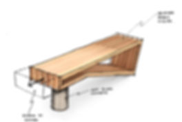 Custom furniture design sketch by Sawdust Bureau