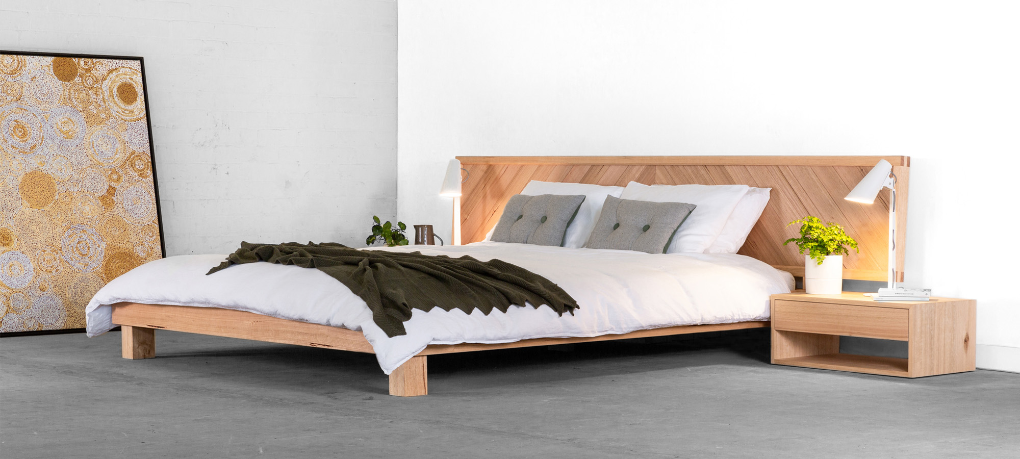 Chevron Bed 01 by Sawdust Bureau