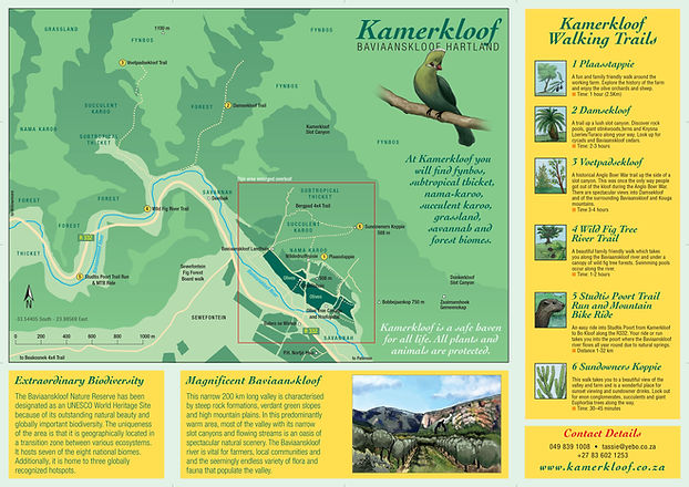 Map of Kamerkloof Baviaanskloof