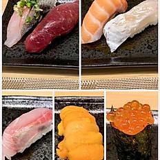 sushi at counter