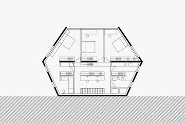 tloris 1. etaže