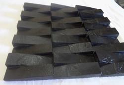 Mosaics from Black slate, 3D
