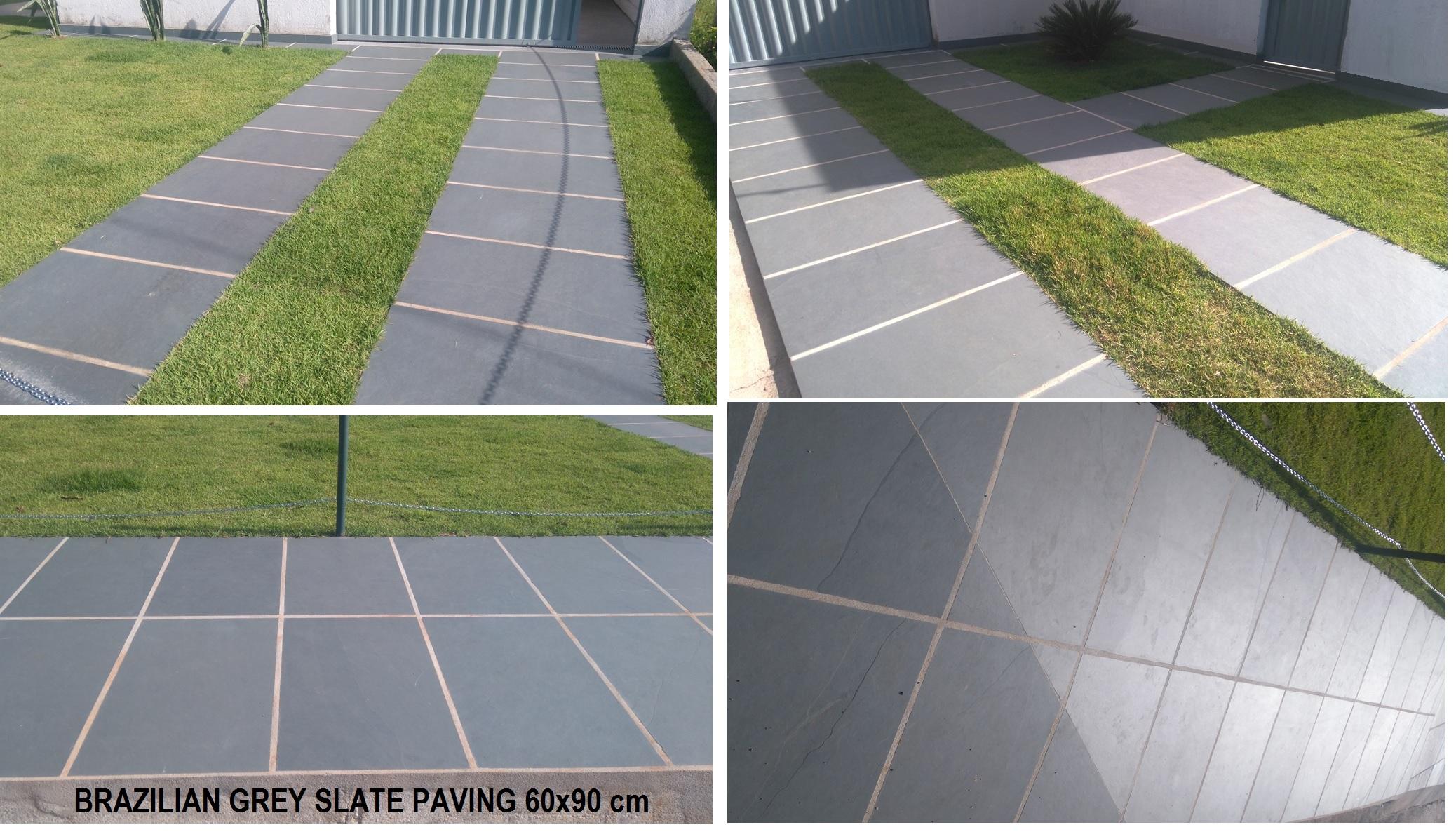 BRAZILIAN GREY SLATE PAVING 60x90 cm