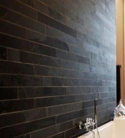 Black slate strips cladding