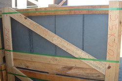 500x250 Grey roofing slate in crates