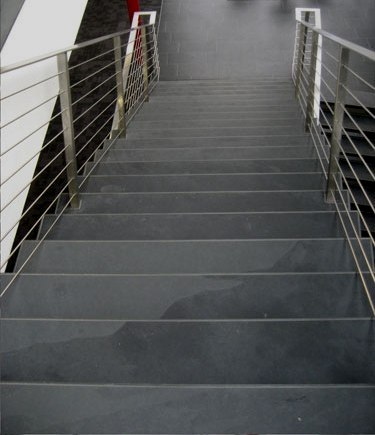 Stairs from Black Graphite slate