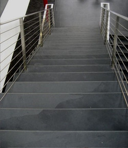 Black Graphite slate stairs, natural