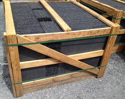 Black Graphite roofing slate in crate