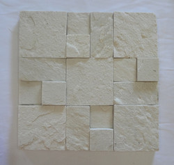 Mosaics from White Quartzite