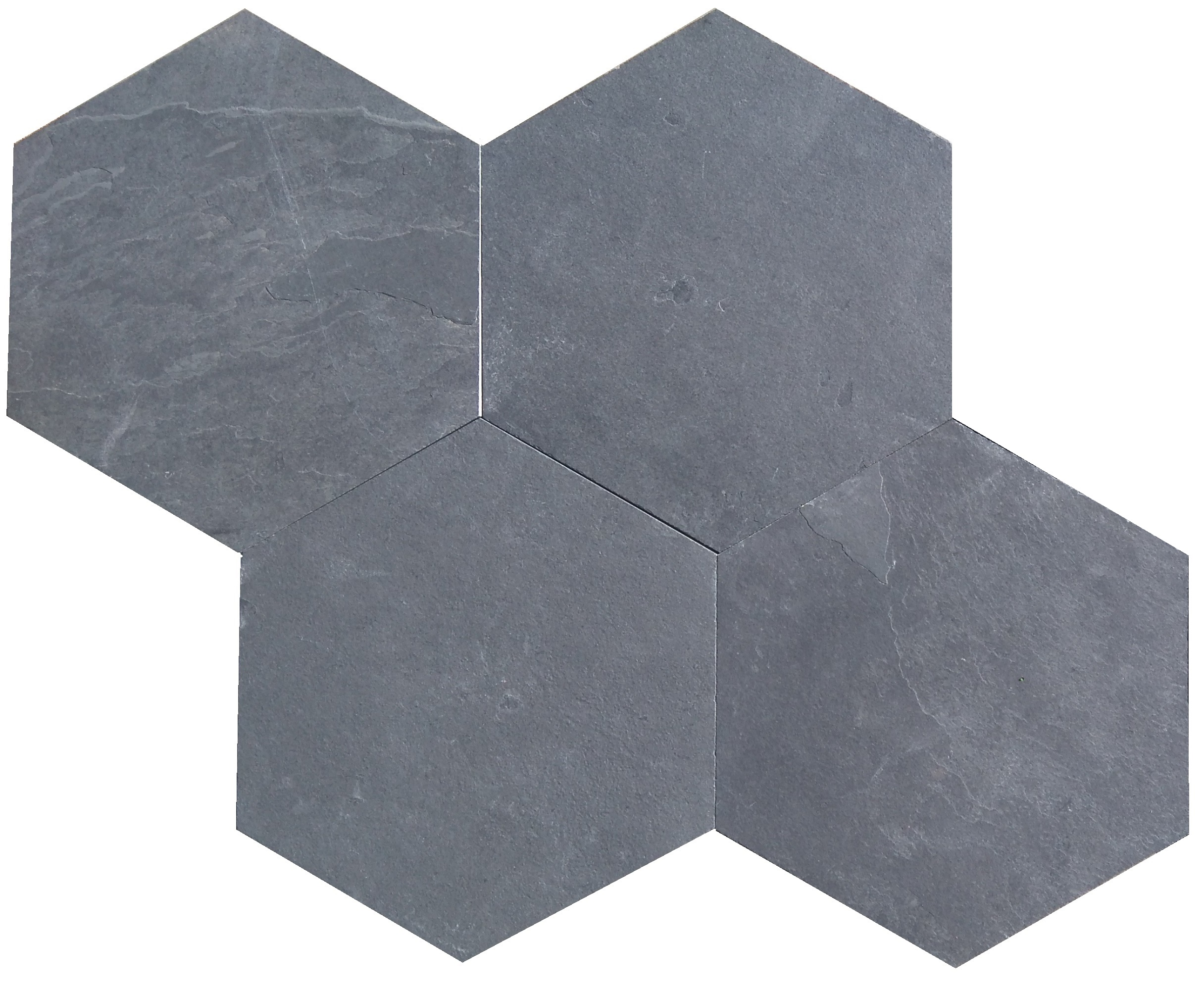 hexagon black slate tiles