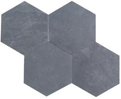 hexagon black slate tiles