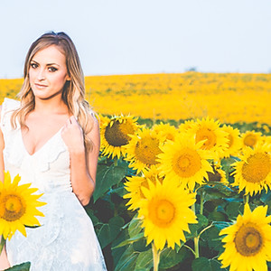 In the Sunflower Fields with Hayley