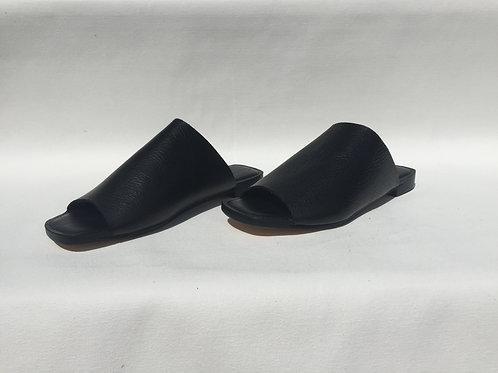 Open Toe Mules   Black