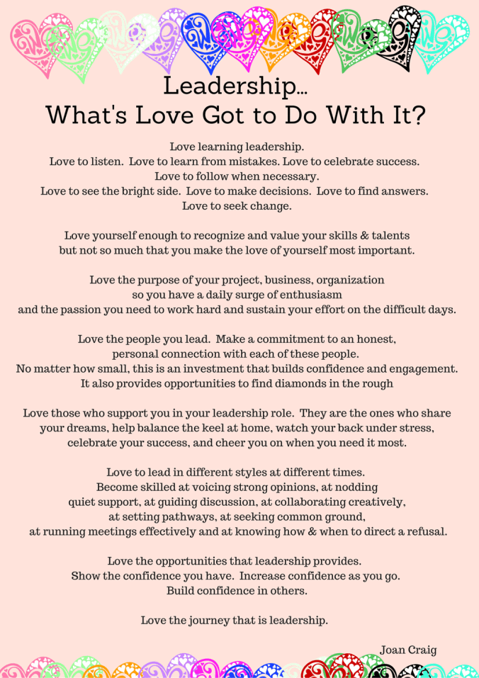 Leadership - What's love got to do with it?