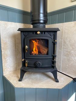 Wood burner in Maggie