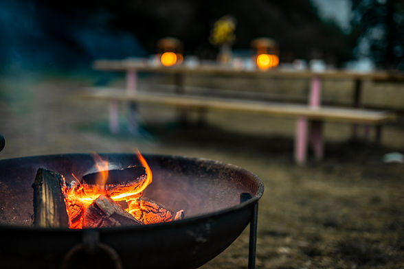 Cook on fire pits