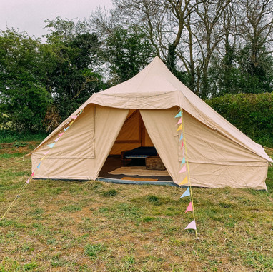 Our large bell tent that goes outside ei