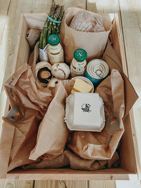 Locally-sourced food hampers
