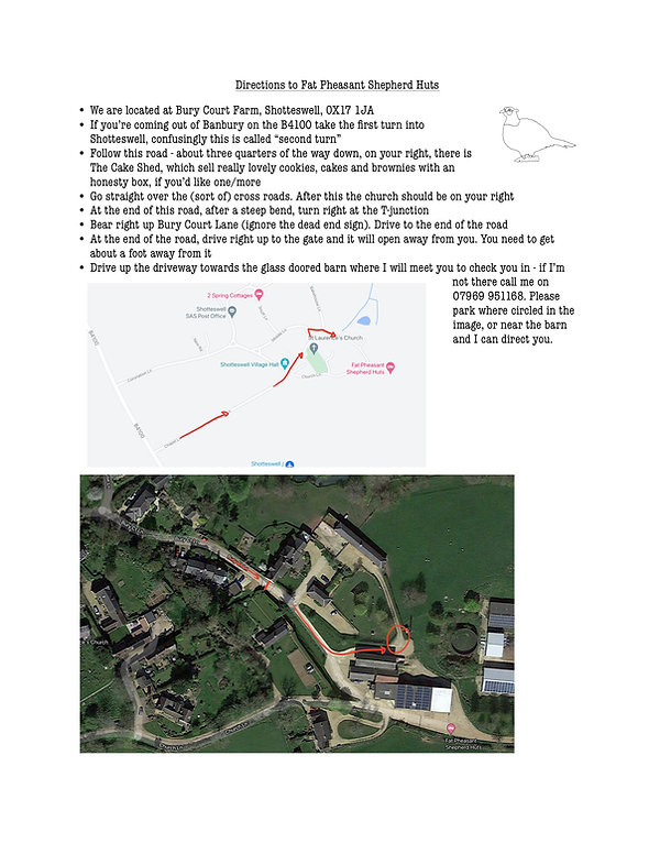 Directions to the farm