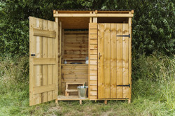 Compost loos outside Dolly for large groups