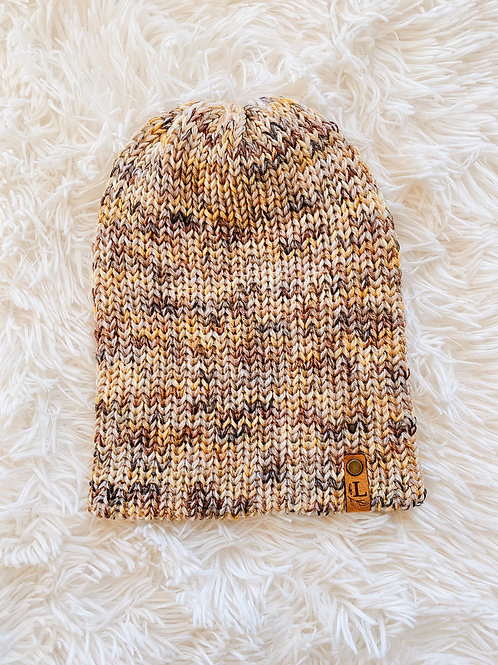 Fitted Double Layer Knit Beanie