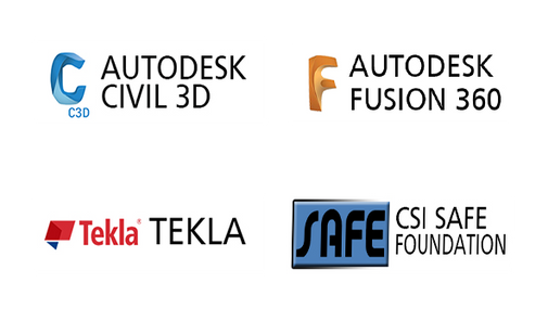 CIVIL 3D,FUSION 36O,TEKLA,SAFE TRAINING