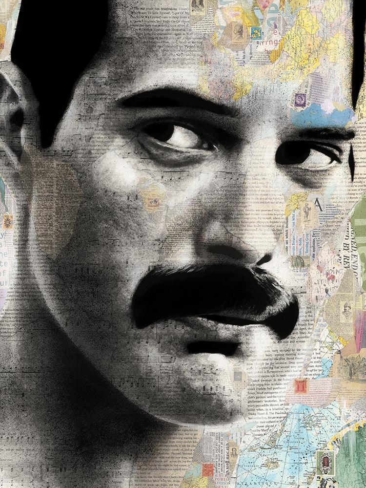 """Freddie Mercury 36x48"""""""