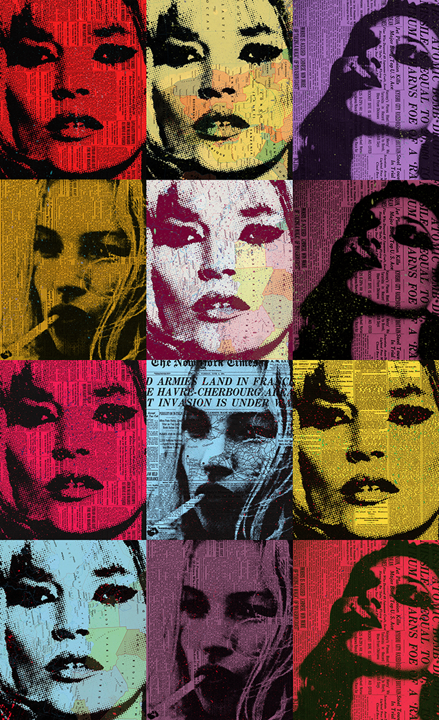 "Kate Moss 65x40""ed 10 on plexiglass"