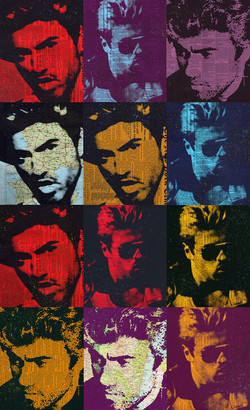 "George Michael 65x40""ed 10 on plexiglass"