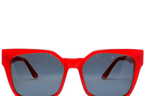 red sunglasses, occhiali da sole rossi