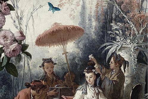 tenture, wall hanging , la ligne 29, venezia, jardin chinoise