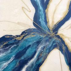 """Blue Lotus - 36"""" x 48"""" - Sold"""