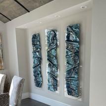 Triptych Blue Impressions