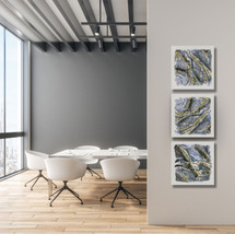 Triptych Taupe Impressions