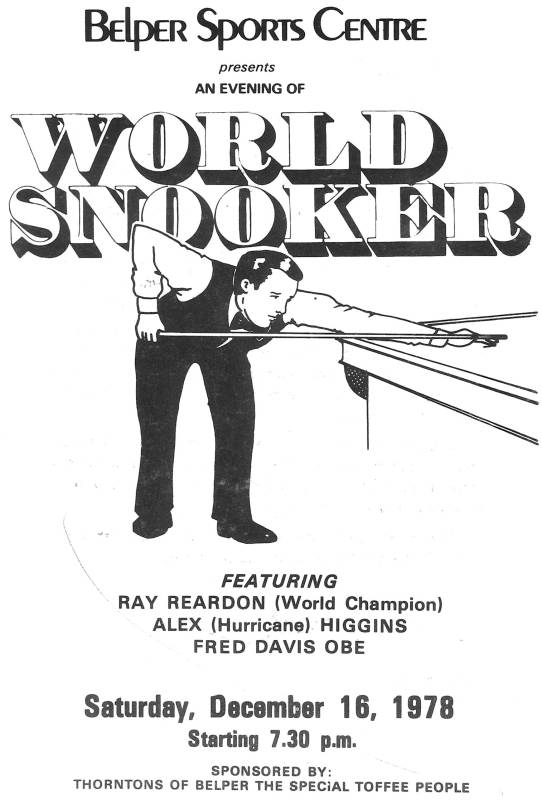 snooker flyer