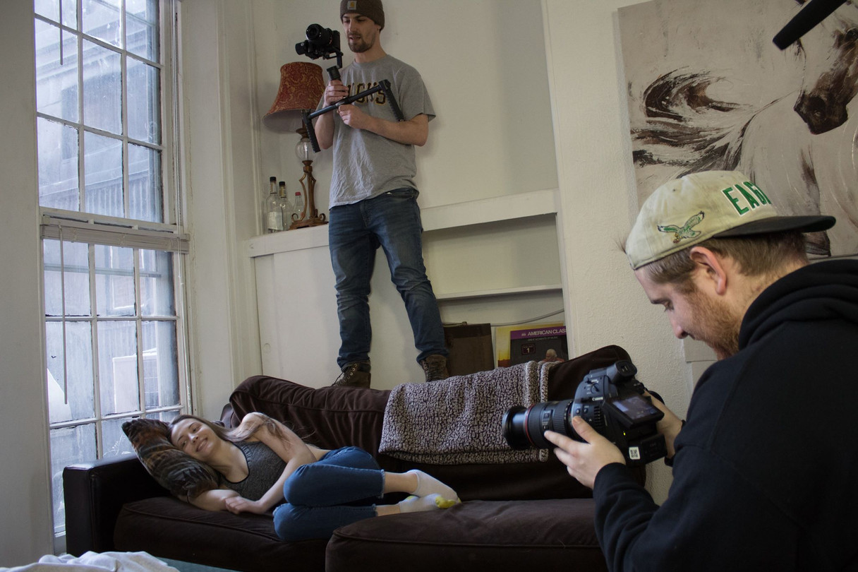 Behind the Scenes Photo of Independent Film Shoot