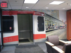 wall mural transit building
