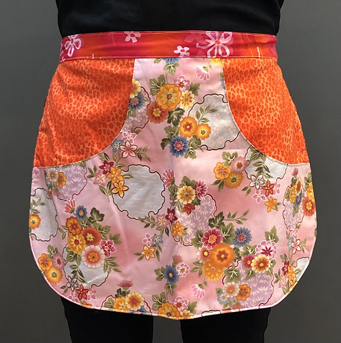 Peg Apron - Orange Marigolds