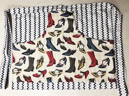 Peg apron - Vintage shoes/stripe