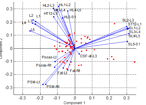 PCA with factor loading