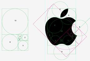 Logotipo Fibonacci apple, mac
