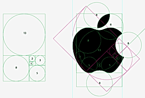 Logotipo Fibonacci apple, mac