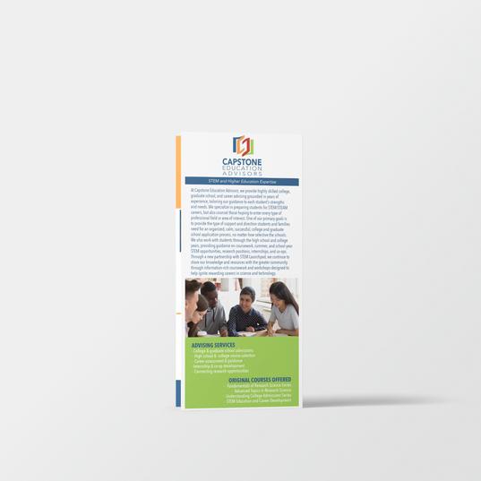 Capstone Education Advisers Rack Card