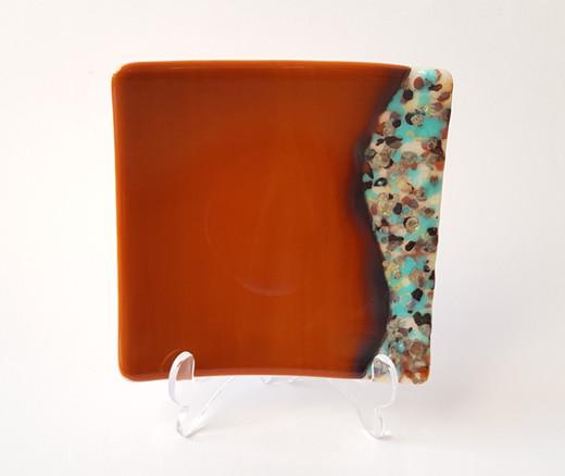 Dessert plate 'Orange Wave' / Desertni krožnik 'Oranžni val'