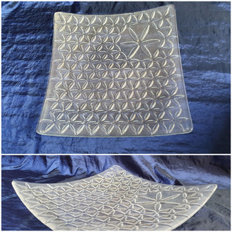 Serving plate 'Flower of Life' / Servirni krožnik 'Roža življenja'