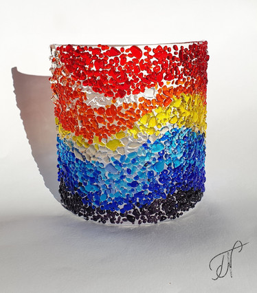 'Brilliant Rainbow' free standing panel / samostoječa slika 'Žareča mavrica'