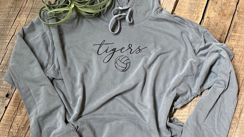 UNISEX TIGERS VOLLEYBALL DYED HOODIE
