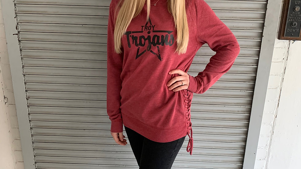 Side Lace Women's Sweatshirt